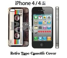 AUDIO TAPE CASSETTE iPhone 4 4S 4G PREMIUM Hard Cover Case Protector 80's RETRO
