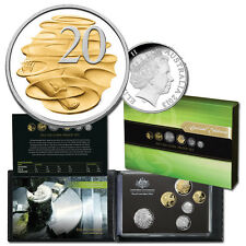 2013 SIX COIN SET INC GOLD PLATED PLATYPUS 20c STUNNING ELITE COIN IN PROOF SET!
