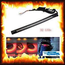 Flexible 32LED Motorcycle Bike Tail Brake Stop Turn Signal Strip Light Red Amber