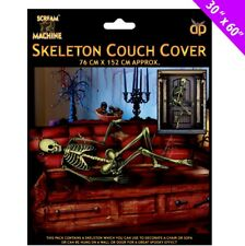 "30"" x 60"" Halloween Spooky Scary Skeleton Couch Cover Backdrop Banner Decoration"