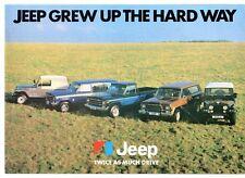 Jeep 1979-80 UK Market Foldout Sales Brochure CJ-7 Cherokee S Chief