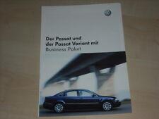 51286) VW Passat + Variant Business Paket Prospekt 12/2002