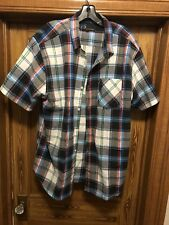 i5 Mens Short Sleeved Shirt - XL/Large NWT Blue, Black, Red