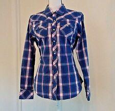 Cumberland Outfitters womens Shirt Rhinestone Snap Rodeo Princess Size M Medium
