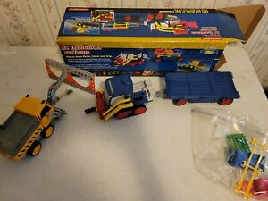 Rokenbok System RC TransGripper & Trailer Blue 1997 /w Extra RC Loader 2625 ++