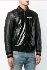NWT Diesel L-Billy Real Leather Bomber Jacket Black size L $848