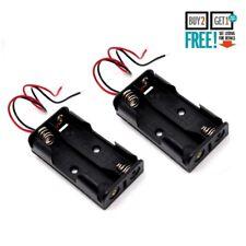 2 X Soporte para caja de batería de 2 AA abierta con los cables de conexión 15 Cm