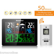 EXCELVAN COLOR Wireless Weather Station Forecast Temperature Humidity Home offic