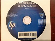 NEW Windows 7  Genuine HP  DVD blue protect tools security software 7.0