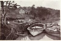 .1910 REAL PHOTO POSTCARD. WHEAT LOADING, RENMARK, MURRAY RIVER.