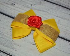 Belle / Beauty And The Beast inspired Boutique Hair Bow /Costume Accessories