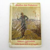 Vintage Rice Paper Small German Book 1958 SOURCES OF GLADNESS Herold Verlag