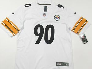 T.J. Watt #90 Pittsburgh Steelers Men's Vapor Limited Jersey White