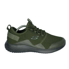 Skechers Shoes Men's Size 9 Olive Green Lace Up Nwob Factory Sample Mesh