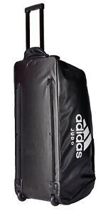 """adidas Trolley """"Judo"""" black/white PU - Sporttasche - Trolly - Big Zipper Bag"""