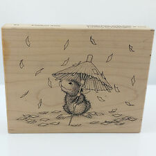 Rubber Stamp House Mouse Confetti Rain 82 Stampa Rosa 1998 Wood Mount