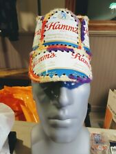 CC Handmade Crochet HAMM'S Beer Can Hat Retro Hipster Party Cap
