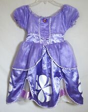 Disney Store Princess Sofia The First Purple Costume Dress Long Child Size 4