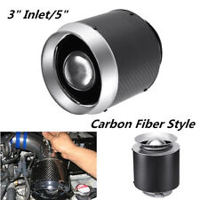 "3"" Inlet/5"" Carbon Fiber Style Hi-Flow Air Filter For Cold Air/Short Ram Intake3"