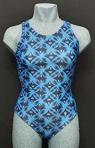 ACCLAIM Seychelles Ladies Swimming Costume UK 10 Atlantic Print Blue Swim Suit