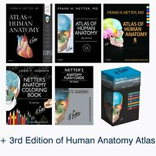 Netter's Human Anatomy ~ 7th Ed. + Flash Cards 4th Ed. + Coloring Book *PDF*DVD*