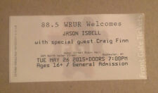 Jason Isbell & Craig Finn 2015 concert ticket. Drive-By Truckers The Hold Steady