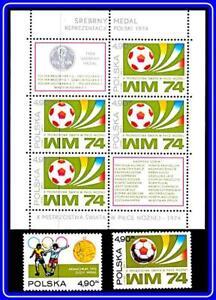 POLAND 1974 FOOTBALL CUP + M/S MNH SOCCER, SPORTS