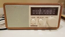 SANGEAN WR11 Wood Cabinet AM/FM Tabletop Radio tested working