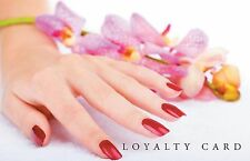 100 x Loyalty Cards Nail Technician Manicure Salon & storage box plus Freepost!