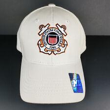 Uscg Us Coast Guard Hat Cap Adjustable Backstrap Nwt Embroidered Logo White
