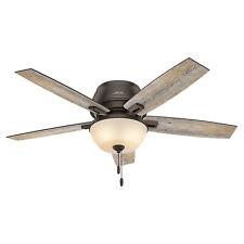 Hunter Fan Company 53342 Donegan Low Profile 52 Inch Ceiling Fan, Onyx Bengal