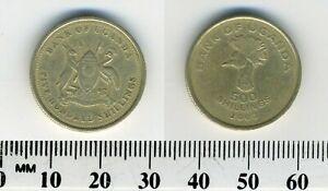 Uganda 2003 - 500 Shillings Aluminum-Brass Coin - East African crowned crane