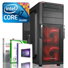 Ultra i7 DX12 Gaming-PC Computer i7 920 GeForce GT 710 - Win10 - 8GB - 120GB SSD