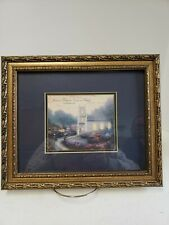 "Framed Thomas Kinkade Blossom Hill Church Print ""Love is Patient, Love is Kind"""