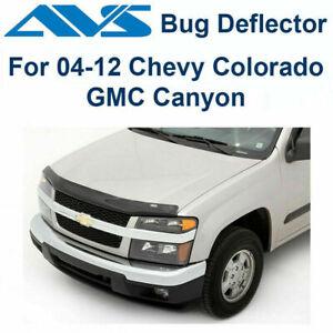 AVS 22049 - Fits 04-12 GMC Canyon Chevy Colorado Bugflector Smoke Hood Protector