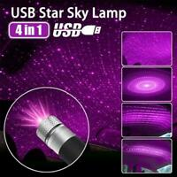 4-in-1 USB Auto Atmosphere Light Starry Sky Projector Ambient Trim LED X4G3