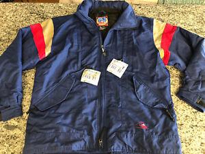 Vtg 90's Quicksilver MENS Navy Blue & Red Snowboard Jacket M