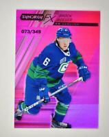 2020-21 UD Synergy FX Purple #FX-22 Brock Boeser /349 - Vancouver Canucks