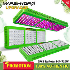 3PCS Mars Hydro Reflector 720W Led Grow Lights Full Spectrum Indoor Veg Flower