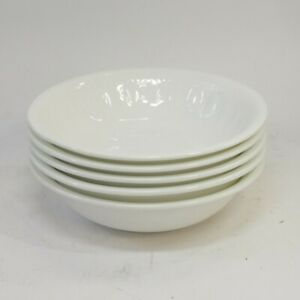 """Wedgwood Colosseum 6"""" Cereal Bowls x5 White Bone China Tableware [Lot A]"""