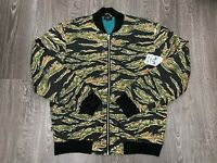 OBEY Men's Tiger Camo Outbound Full-Zip Bomber Jacket 121800342 Size L NEW $110