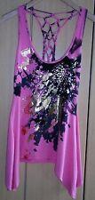 Jane Norman Ladies Open Back Pink Summer Dress Top  Size 8