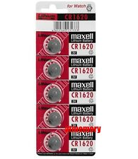Maxell CR1620 CR 1620 3V Button Coin Cell Battery x 5pcs Made in Japan Genuine