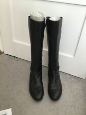 Geox Felicity Ladies Italian Black Leather Knee High Boots Uk Size 6