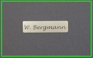 2x Aluminium Türschild, Namensschild, Klingelschild 60x15mm m. Laserbeschriftung