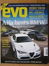 Evo 226 October 2016 Alfa QV BMW M4 Comp Mercedes C63 AMG Lexus RC F Clio RS16