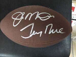 Joe Montana /Jerry Rice Autographed Football 49ers Ball....CERTIFIED