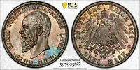 Germany Schaumburg-Lippe 1911-A 3 Mark J-166 PCGS MS65+ - Lovely Gem