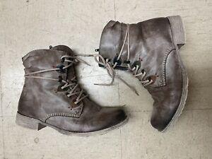 Rieker Grey Combat Boot 70827-26 Size 38