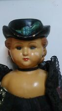"""Antique Wax Large Victorian Lady Doll 30"""" Bisque Hands, Feet, Cloth Body Lace!"""